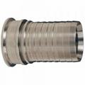 Sanitary Stainless Steel Crimp Stem Clamp End x Hose Shank 1