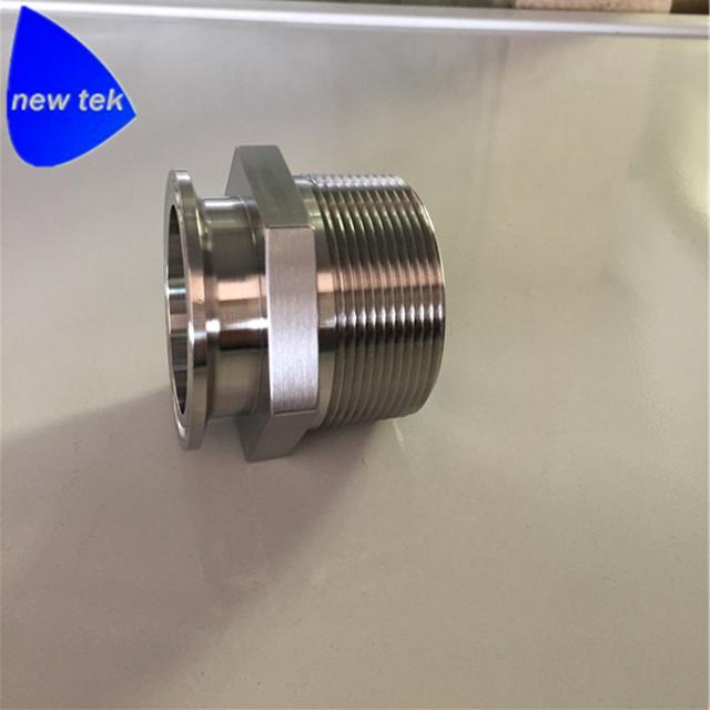 Stainless Steel Sanitary Male NPT to Tri Clamp Adapters (21MP) 2