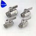 G BSPP Threaded SUS304 mini ball va  e stainless lever handle 2