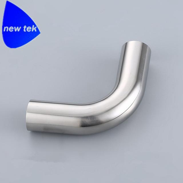 卫生级不锈钢抛光j加长弯头45度 4