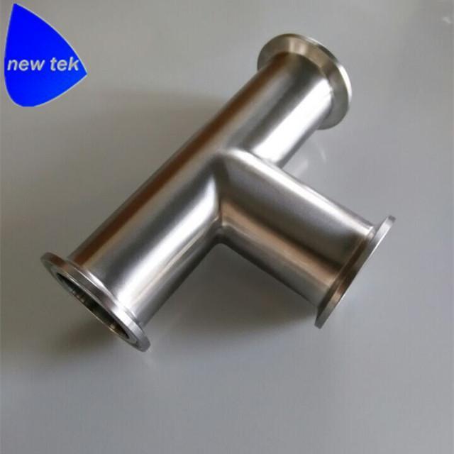 卫生级不锈钢快装三通 2