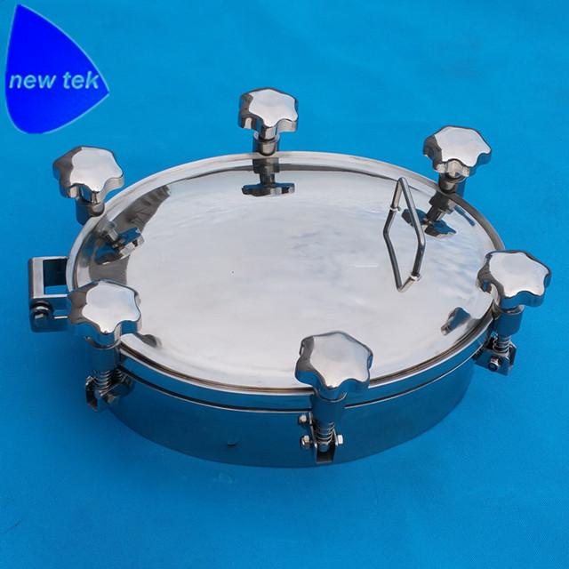Sanitary Round Pressure Tank Manhole Cover-Stainless Steel 7