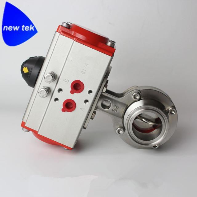 卫生级不锈钢气动焊接蝶阀 4