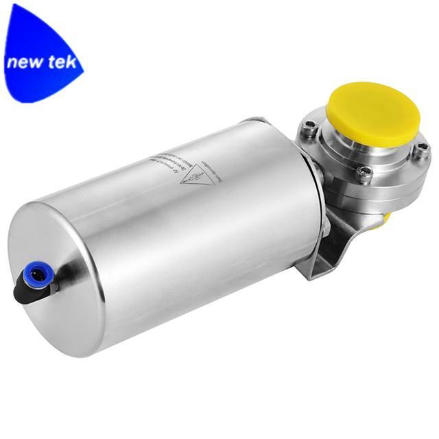 卫生级不锈钢气动焊接蝶阀 3