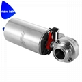 Sanitary Stainless Steel Pneumatic Actuated Clamp Butterfly Va  e  3