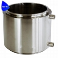 Stainless Steel Tri Clamp Fully Jacketed Spools with Drain Port