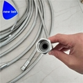 Stainless Steel High Pressure PTFE Braided Hose Flare Adapter 3