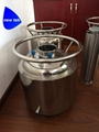 Stainless Steel Solvent Recovery Tank w/Dip Tube and Glass Window 2