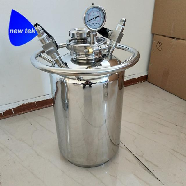 Stainless Steel LP Slovent Recovery Tank w/ Sight Glass 1
