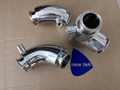 Sanitary Tri Clamp Fully Jacketed Elbows Stainless Steel 304 316L