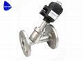 不锈钢快装气动角座阀带阀门定位器 3