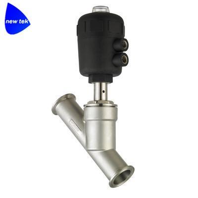 不锈钢快装气动角座阀带阀门定位器 5