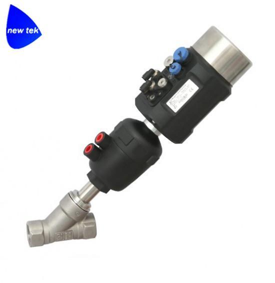不锈钢快装气动角座阀带阀门定位器 2