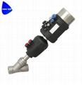 Sanitary Pneumatic Angle Seat Valves w/Intelligent Positioner