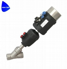 Sanitary Angle Seat Valves w/Intelligent Positioner