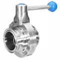 Hygienic Stainless Steel Manual Clamp Butterfly Valve Square Handle