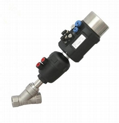 Sanitary Pneumatic Angle Seat Valves w/Intelligent Positioner