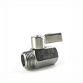 G BSPP SUS304 mini ball valve stainless
