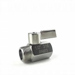 aisi316 stainless mini ball valve