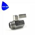G BSPP Threaded SUS304 mini ball va  e stainless lever handle 4