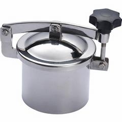 Sanitary SS304 Round Non-pressure Tank Manhole Cover Access