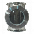 Sanitary Stainless Steel TriClamp Union Sight Glass Tee 1