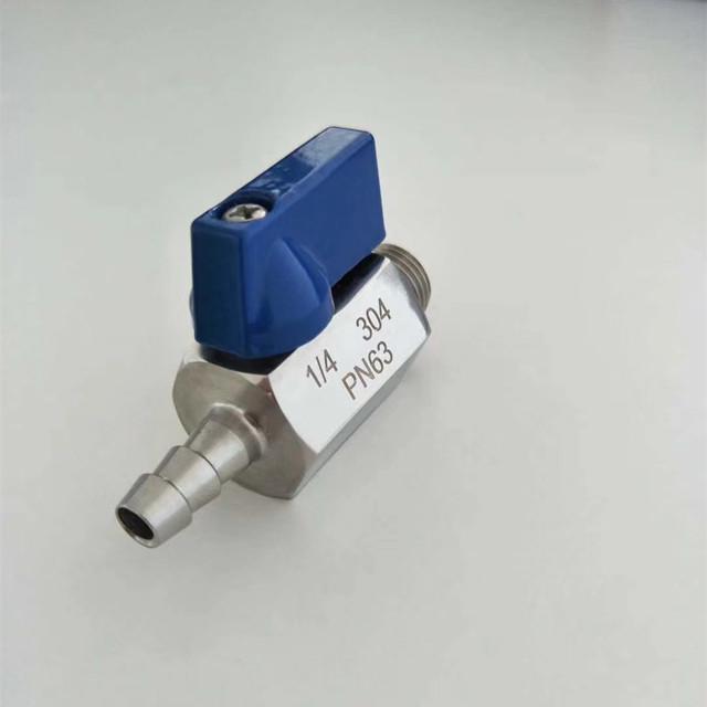 """1//4/"""" 316 Stainless Steel PN63 Mini Ball Valve FxM Female to Male NPT Sanitary"""