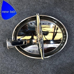 Sanitary Stainless Steel Oval Tank Manway Cover Inward Open