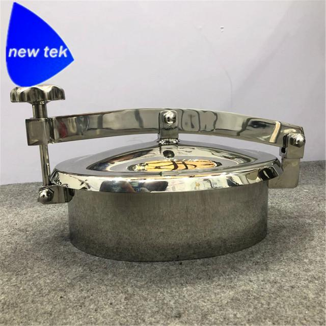 Santiary Stainless Outward Oval Tank  Manhole Cover-SS304 3
