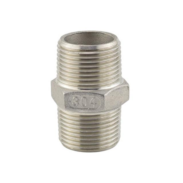 MalexMale Hexagon Nipple 150LB Stainless Steel Pipe Fittings 1