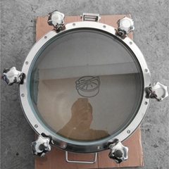 Santiary Pressure Top Sight Glass Round Tank Manhole Cover SS304 SS316
