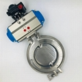 Hygienic Stainless Steel Pneumatic Actuated Powder Butterfly Valve
