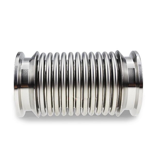 Stainless Steel Vacuum Metal Bellows Hose Thin Wall Tubing ISO-KF Flange  1