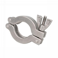 Stainless Steel and Aluminum Vacuum Hinged Clamp KF 1