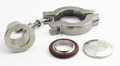 Stainless Steel and Aluminum Vacuum Hinged Clamp KF 4