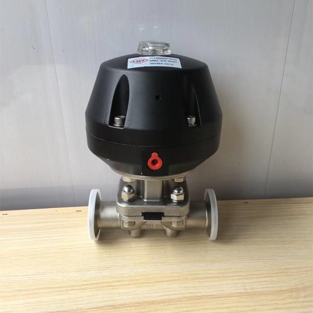 ss actuated diaphragm valve