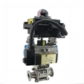 Sanitary SS Actuated Ball Valve with
