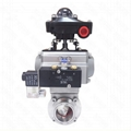 Sanitary Stainless Stee Actuatedl Butterfly Valve with Positioner