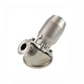 Sanitary pneumatic tank bottom diaphragm