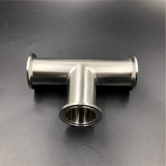 Sanitary Fitting Stainless Steel Clamp Tee