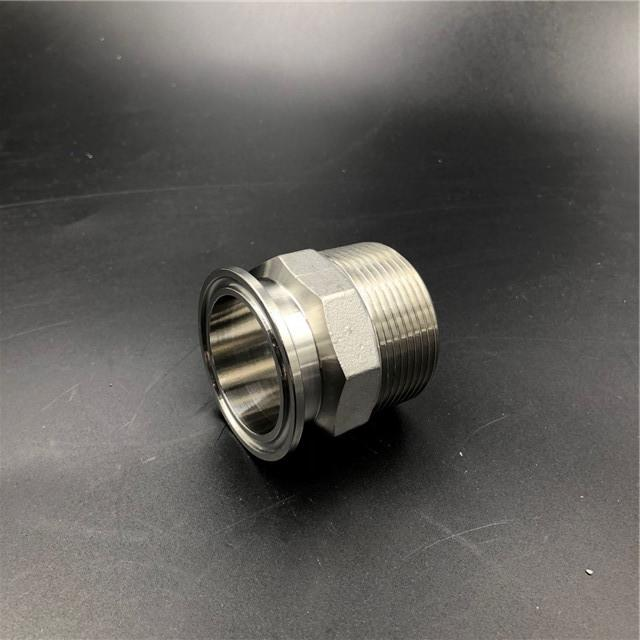 Sanitary Clamp to Male Threaded Adapter Stainless Steel 1