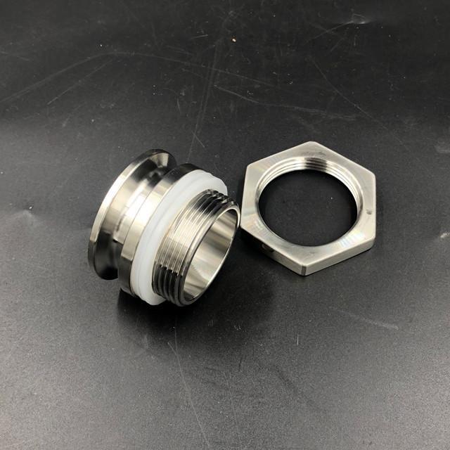Sanitary Stainless Steel Tri Clamp Weldless Bulkhead 1