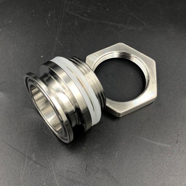 Sanitary Stainless Steel Tri Clamp Weldless Bulkhead 3