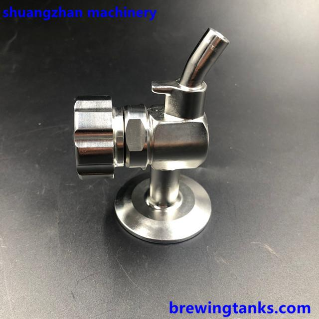 "Sanitary Stainless Steel Sample Valve 1.5"" TC Brewing 2"