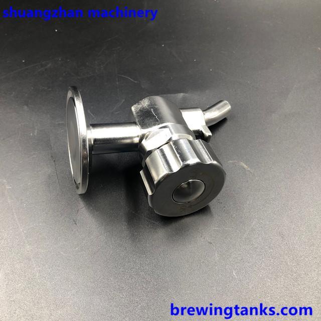 "Sanitary Stainless Steel Sample Valve 1.5"" TC Brewing 3"
