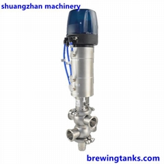 Sanitary Stainless 316L Dairy Mixproof Valve with C-Top