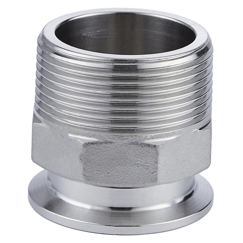 Sanitary Clamp to BSP Male Threaded Adapter Stainless Steel 1