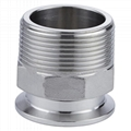 Sanitary Clamp to BSP Male Threaded Adapter Stainless Steel