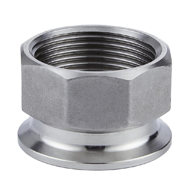 Sanitary Stainless Steel FNPT Threaded Tri Clamp Adapter  1