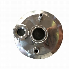 Sanitary Stainless Steel Tri-Clamp End Cap Lid w/ Window and MPT
